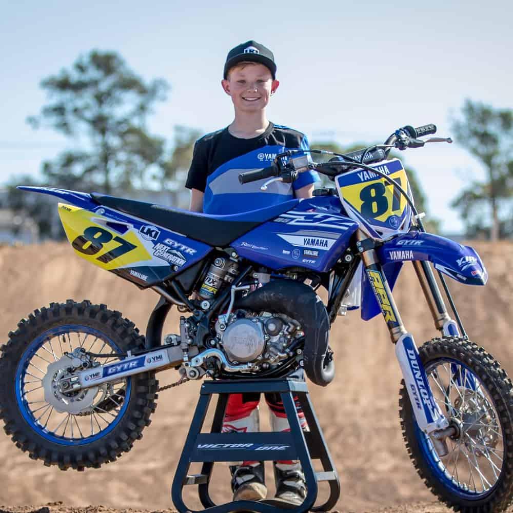 Yamaha Junior Racing rider Wil Carpenter With Yamaha YZ65