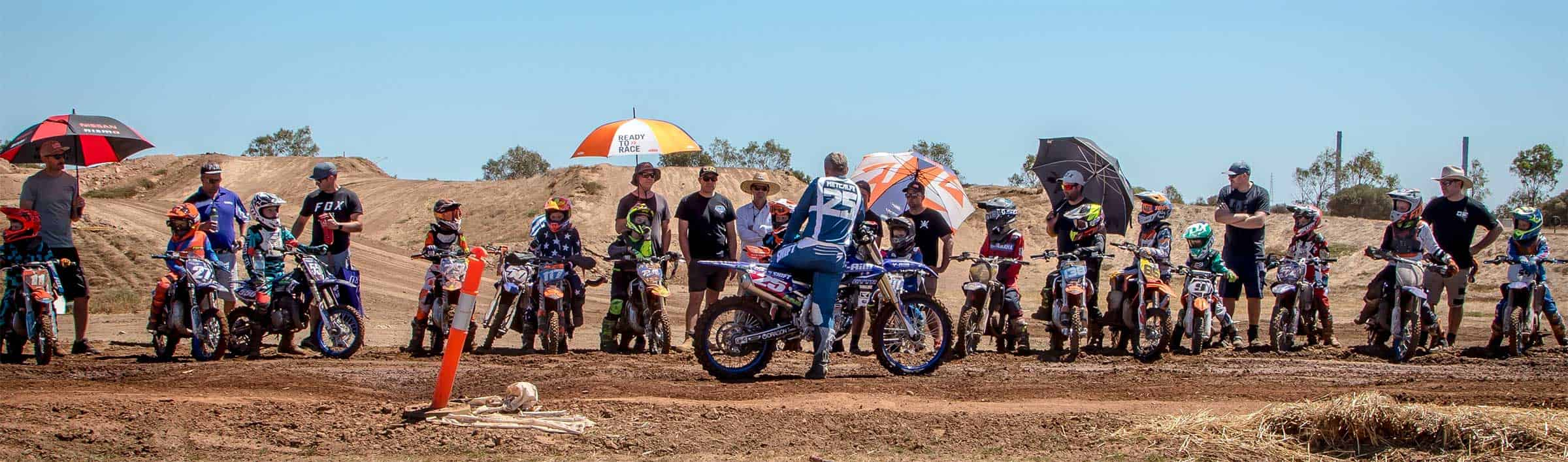 Motocross School Entry Form Holding Image